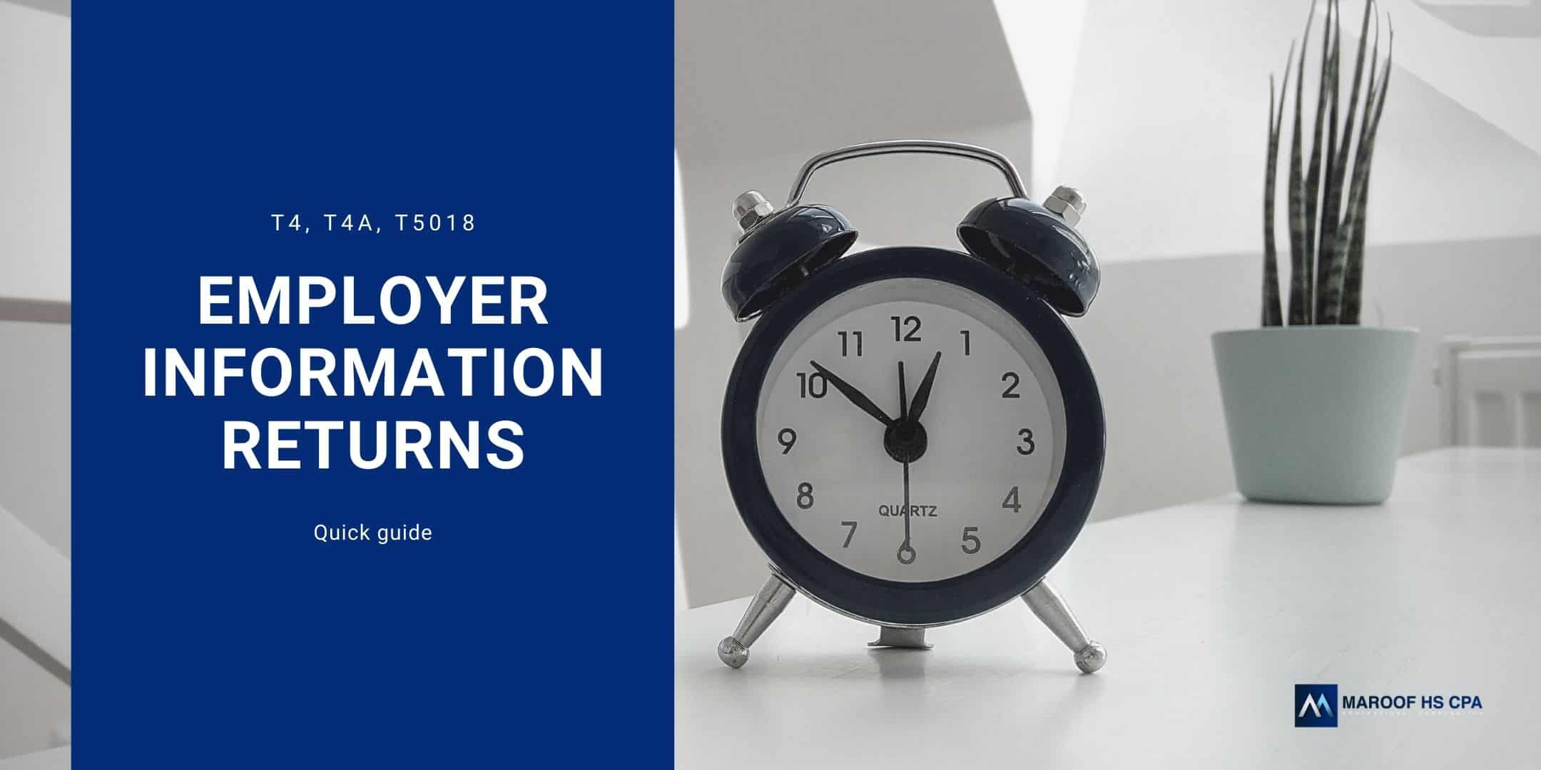 T4 T4A information return guide for employers