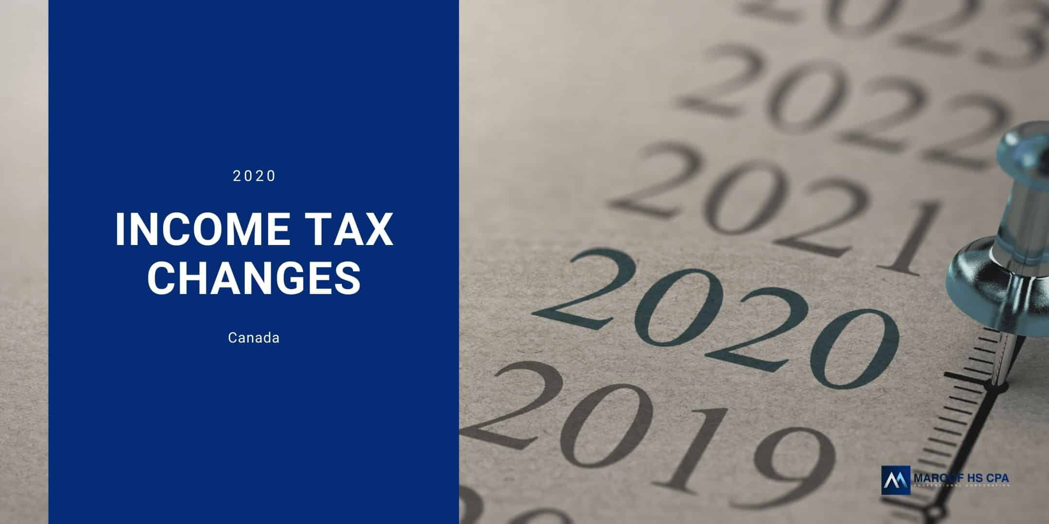 income tax changes in Canada in 2020