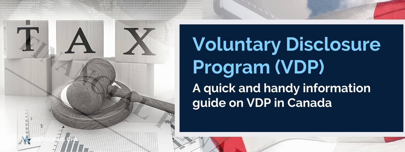 How to file CRA voluntary disclosure program application