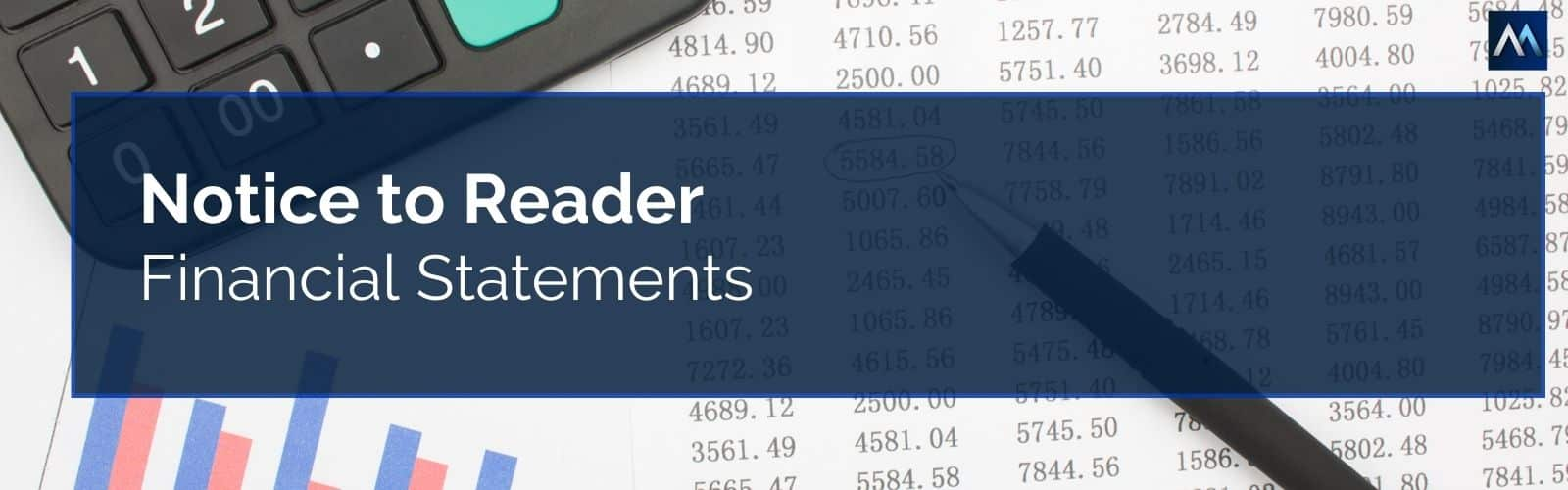 what is notice to reader financial statements?