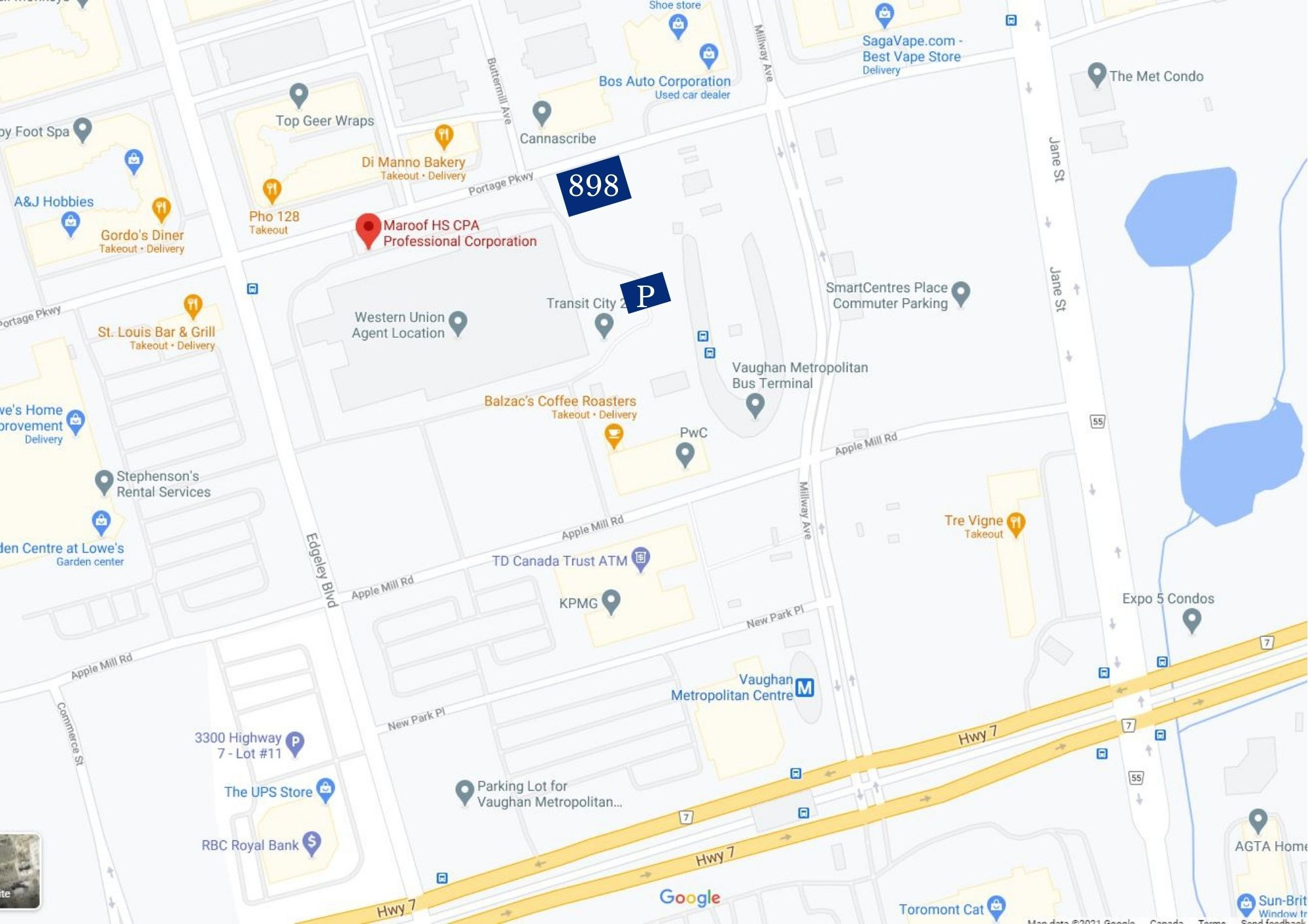 how to reach CPA in Cocord - 898 Portage Pkwy Concord
