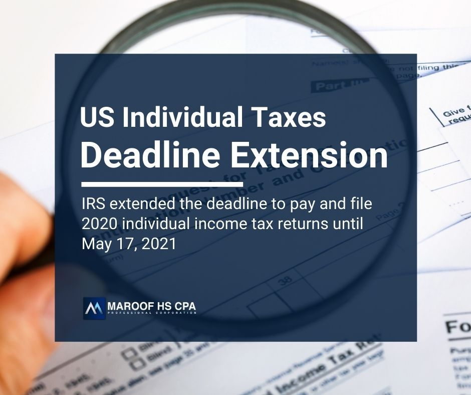 Deadline extension for cross border individual income tax returns for US